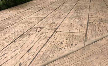 beton imprimé ffet bois